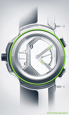 movements and wrist watches II by adityaraj dev, via Behance