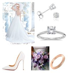 """""""special day.... weddingday..!!"""" by explorer-15098277769 on Polyvore featuring Christian Louboutin, Amanda Rose Collection, Blue Nile and Alex Soldier"""
