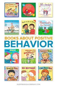 Use positive reinforcement to help improve your child's behavior. Discover 12 children's books that reinforce positive behavior and discuss their emotions. Even includes a Read Aloud Book List hundreds of favorite selections to read aloud with your kids! Positive Verstärkung, Positive Behavior, Positive Reinforcement Kids, Best Children Books, Childrens Books, Kid Books, Best Toddler Books, Children Play, Kylie