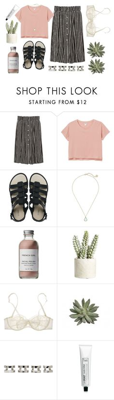 """call me by your name"" by icxed ❤ liked on Polyvore featuring A.L.C., Monki, Melissa, Kendra Scott, French Girl, Allstate Floral, Nina Ricci, Maison Margiela and L:A Bruket"