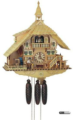 Cuckoo Clock 8-day-movement Chalet-Style 58cm by Anton Schneider - 8TMT107/10