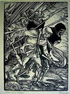 Rudolf Schiestl, Peasant Warrior and Death, 1525 (20th c.)
