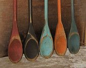 Wooden spoons...hmmm...I could paint my own...