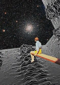 Unknown Pleasures to Infinity - by Collage al Infinito by Mariano Peccinett