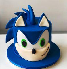 Sonic Birthday Cake, Sonic Cake, Sonic Birthday Parties, Harry Birthday, Cake & Co, Eat Cake, Sonic The Hedgehog Cake, Cake Decorating Frosting, Pokemon Party
