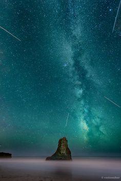 Milky Way, Davenport Beach, California