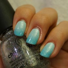 Blue gradient with fairy dust