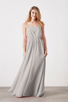 Weddington Way Hazel Bridesmaid Dress in Silver in Chiffon