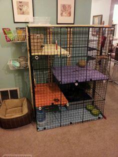Rabbit Cage Cubes DIY Condo Shelves Pet House Home