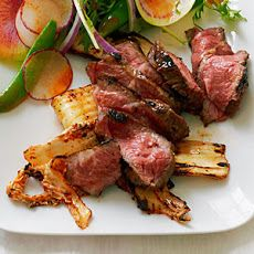 """Short Rib """"Steaks"""" with Grilled Kimchi Recipe"""
