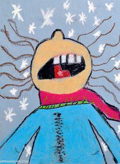 artisan des arts: Catching Snowflakes - grade 3