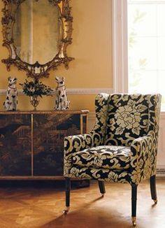 Zoffany Chair Fabric Mandarin - Chocolate NUR05001, www.eadeswallpaper.com  #designerfabric  #fabricsale  #DIY