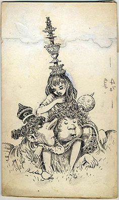 mervyn peake alice in wonderland | Take A Peake At The Twentieth Century's Optimum Alice
