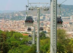 Teleferic Montjuic -  Fantastic views over Barcelona.