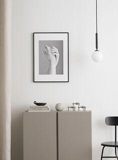 The Poster Club - Pealing Print by Rikka Kantinkoski Monochrome Interior, Diy Y Manualidades, Scandi Home, Decor Scandinavian, Ikea Hacks, Ivar Ikea Hack, Home Decor Inspiration, Furniture Design, Modern Furniture