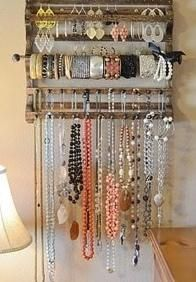 jewlery organizer. I must find something like this!