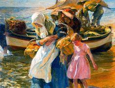 """Morning Sun"" by José Mongrell Torrent (1870-1937, Spain)"
