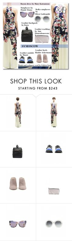 """""""SVM6"""" by andrea2andare ❤ liked on Polyvore featuring Mary Katrantzou, Kara, Marni, Haider Ackermann, Ann Demeulemeester, Oliver Goldsmith and Faliero Sarti"""