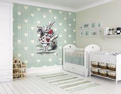 ohpopsi Alice au pays des merveilles Wonder mural Motif cœur, 3.5m x 2.8m: Amazon.fr: Bricolage