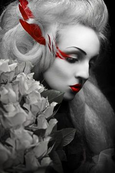 black and white photos with color accents | Creative Photography: Dramatic Effects Of.......  ( Red & Black )