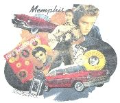 Nicely faded Elvis and Memphis t-shirt. See it at Vintage Basement - www.vintagebasement.com