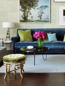 That blue velvet couch.