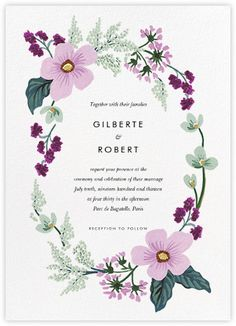 Charming Romantic Wedding Invitations   Online And Paper   Paperless Post