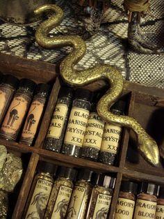 Vintage Bronze Altar Snake