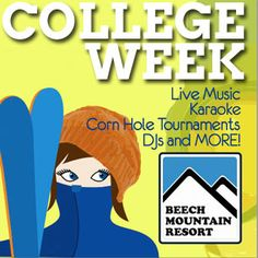 Love to ski or snowboard? Come out for Beech Mountain's College Week for major discounts and fun! February 2nd-10th. Appalachian State or Lees McRae College are two of the surrounding colleges in the area. University of North Carolina at Asheville or Western Carolina students are also welcome