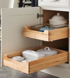next to ovens but longer, double drawer pullouts for baking pans, etc.