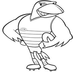 Afl Football Colouring Pages | footy day activities | Pinterest ...
