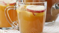 Apple Cider Sparklers ~ Let the slow cooker be your punchbowl for this fun and festive recipe, perfect for a large holiday gathering.