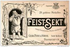 Original-Werbung/Inserat/ Anzeige 1899 :  FEIST SEKT FRANKFURT - ca. 180 X 130 mm