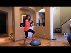 Bosu Ball with Weighted Ball Cardio Kick Workout