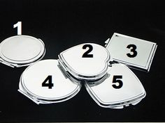 Blank shapes dual mirror metal compact great for diy bling Bridesmaid Gifts, Bridesmaids, Compact Mirror, Beauty Essentials, Mirrors, Craft Supplies, Cufflinks, Jewelry Making, Bling