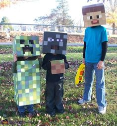 Minecraft Creatures - 2012 Halloween Costume Contest