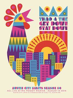 Thao & The Get Down Stay Down concert poster designed by Dan Stiles