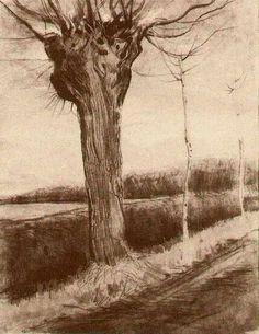 Vincent Willem van Gogh March 1853 – 29 July was a post-Impressionist painter of Dutch. Paul Gauguin, Van Gogh Drawings, Van Gogh Paintings, Rembrandt, Monet, Desenhos Van Gogh, Van Gogh Arte, Van Gogh Watercolor, Van Gogh Landscapes