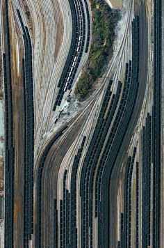 Lamberts Point Pier 6 Norfolk, Virginia, USA Train cars filled with coal are stationed in Norfolk, Virginia. Operated by the Norfolk Southern corporation, Lamberts Point Pier 6 is the largest coal-loading station Urban Fabric, Aerial Images, Aerial Photography, Night Photography, Stunning Photography, Scenic Photography, Photography Tips, Landscape Photography, Train Tracks