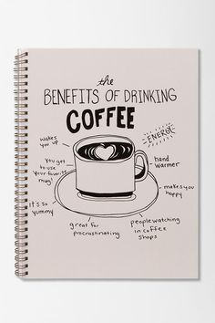 Coffee Spiral Notebook | Urban Outfitters