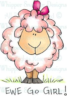 Ewe Go Girl! - Farm - Animals - Rubber Stamps - Shop