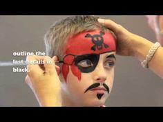 Arrrrrrrrrrrr me hearties!  Today we're sharing this awesome Pirate Face paint video tutorial painted by Jinny!!    Watch the video to find out how you can create this cool look with only 3 colors and 2 brushes!    Products Used: Paradise Red, Black & White, Paradise Chisel Brush #814 & Paradise Medium Round Brush.