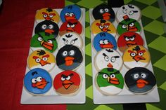 Angry Birds Party cookies #angrybirds #cookies