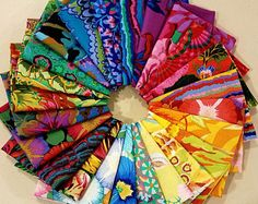 Kaffe Fassett Philip Jacobs arco iris de la grasa del cuarto paquete de tela - 24 telas diferentes