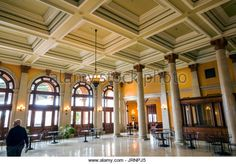 Virginia Richmond Main Street Station historic railway station interior -  Stock Image