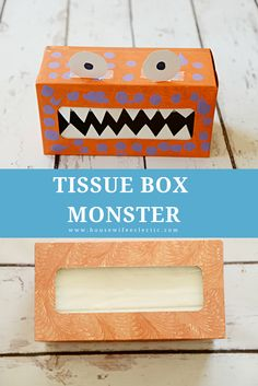 Housewife Eclectic: Curled Paper Pumpkins and Tissue Box Monsters