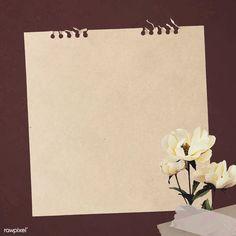 White peonies on paper textured background vector Framed Wallpaper, Wallpaper Backgrounds, Wallpapers, Marco Polaroid, Free Paper Texture, Instagram Frame, Diy Papier, Frame Template, Logo Design