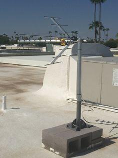 Professional Flat Roof Mounted HDTV Antenna Installation In Scottsdale, AZ  By #Freehdtvaz Www.