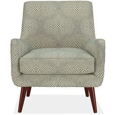 Quinn Chair Ottoman in Mirror Fabric ($999) ❤ liked on Polyvore featuring home, furniture, ottomans, fabric footstool, upholstered ottoman, mid century ottoman, mid-century modern furniture and mid century style furniture