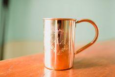 moscow mule mug, copper custom mug, wedding mug, wedding glass, crest glass